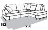 габаритные размеры дивана 8 Марта Монте-Карло 1