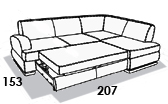 размеры спального места дивана 8 Марта Монте-Карло 1