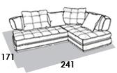 габаритные размеры дивана 8 Марта Палермо