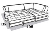 размеры спального места дивана 8 Марта Палермо