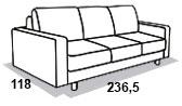 габаритные размеры дивана 8 Марта Голливуд