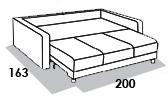 размеры спального места дивана 8 Марта Голливуд