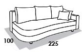габаритные размеры дивана 8 Марта Майами