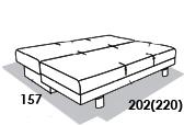 размеры спального места дивана 8 Марта Олимп