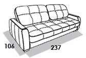 габаритные размеры дивана 8 Марта Флиппер