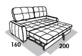 размеры спального места дивана 8 Марта Флиппер