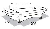 размеры спального места кушетки 8 Марта Летти
