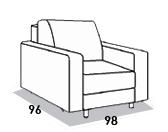 габаритные размеры кресла 8 Марта Голливуд