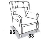 габаритные размеры кресла 8 Марта Амадей