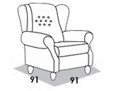 габаритные размеры кресла 8 Марта Лорд