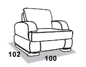 габаритные размеры кресла 8 Марта Монте-Карло