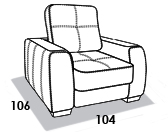 габаритные размеры кресла 8 Марта Сиэтл