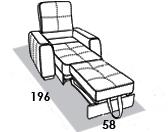 размеры спального места кресла 8 Марта Сиэтл