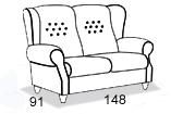 габаритные размеры дивана 8 Марта Лорд-2