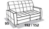 габаритные размеры дивана 8 Марта Томас
