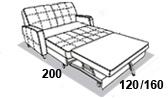 размеры спального места дивана 8 Марта Томас