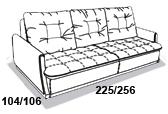 габаритные размеры дивана 8 Марта Ричард