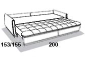 размеры спального места дивана 8 Марта Ричард