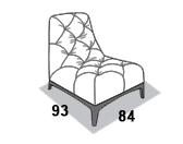 габаритные размеры кресла 8 Марта Люмьер